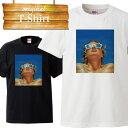 Tシャツ T-shirt ティーシャツ 半袖 大きいサイズあり big size ビックサイズ カジュアル 女性 イラスト サングラス プール 夏 サマー 爽やか プリント デザイン