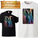 Tシャツ T-shirt ティーシャツ 半袖 大きいサイズあり big size ビックサイズ カジュアル 女性 イラスト サマー 爽やか プリント デザイン カラフル 巻き髪 名古屋嬢