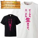 エッチビール生好きおふざけ 面白 デザイン Tシャツ T-shirt ティーシャツ 半袖 大きいサイズあり big size ビックサイズ