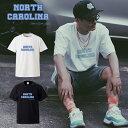 ノースカロライナ North Carolina crips バスケ カレッジ Tシャツ street ストリート hiphop B系 gang ギャングスタ ロゴ logo デザイン T-shirt ティーシャツ 半袖 大きいサイズあり big size ビックサイズ