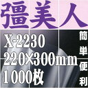 彊美人80 X-2230(1,000枚)220mm×300mm ナイロンポリ三方袋・真空・脱気・ボイル・冷凍対応【本州/四国/九州は送料無料】