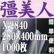 彊美人80 X-2840(1,000枚)280mm×400mm ナイロンポリ三方袋・真空・脱気・ボイル・冷凍対応【本州/四国/九州は送料無料】