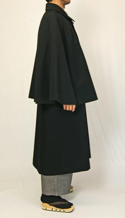 男物着物 とんびコート(インパネコート) 大正ロマン 和装に似合う ポリエステル生地 日本製