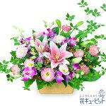 【6月の誕生花(ユリ等)】ピンクユリとデンファレのアレンジメント