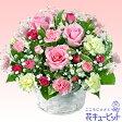 花キューピット【誕生日バラ】ya0b-511116ピンクバラのアレンジメント【あす楽対応_北海道】【あす楽対応_東北】【あす楽対応_関東】