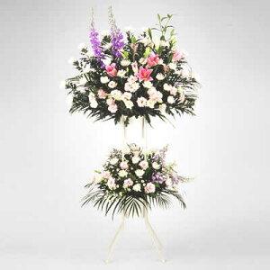 お供え用スタンド2段(色もの)花キューピット