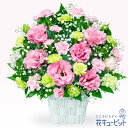 【お見舞い】 退院祝い 快気祝い 明るい 前向き 花 ギフト プレゼント花キューピットのトルコキキョウのピンクアレンジメントyk00-511864