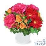 【11月の誕生花(ガーベラ等)】赤ガーベラの鮮やかアレンジメント