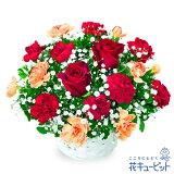 花キューピット【バラ特集】赤バラのアレンジメントnr00-512048 お祝い 開店祝い 開業 退職 送別 歓迎会 結婚祝い 誕生日