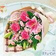 花キューピット【母の日ギフト】mt01yr-521244ピンクユリの花束