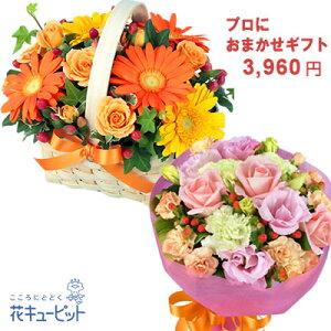 【お祝い おまかせ】ycyr-o03999プロにおまかせフラワーギフト花キューピット