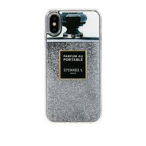 f957c0bdcc IPHORIA アイフォリア Liquid Case for Apple iPhone X/XS - Silver Glitter リキッドケース
