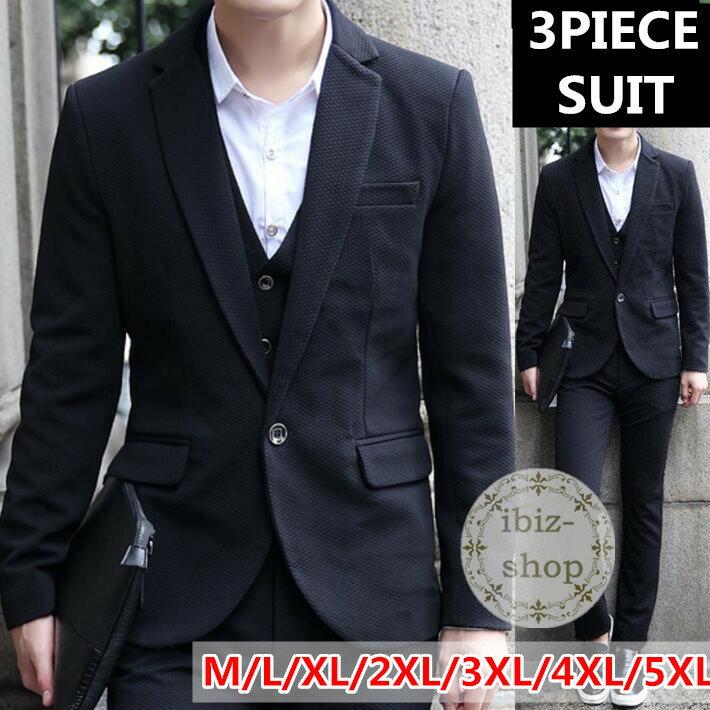 703edc178df6d 黒スーツ 3ピース スーツ スリムスーツ 新社会人 セットアップ メンズ 大きいサイズ 成人式 カジュアルスーツ ビジネススーツ 卒業式 リクルート スーツ スリーピース ...