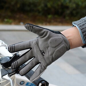 自転車グローブ サイクリング 手袋 バイクグローブ 手袋 登山グローブ フルフィンガー 長指 春 秋 冬 メンズ レディース 衝撃吸収パッド