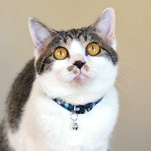 【猫】【首輪】クールなモザイクチェック柄