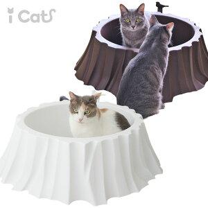 【トイレ インテリア iCat】iCatのシンプルな切り株型の猫用トイレ小鳥のスコップ付きで森の中...