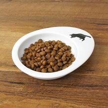 【犬】【猫】【フードボウル】黒猫のイラストがキュート