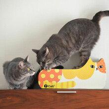 【猫】【つめとぎ】【iCat】【アイキャット】オリジナルつめとぎカラフルドット。【段ボール】【猫用つめとぎ】【猫のつめとぎ】【スクラッチャー】【キャットスクラッチャー】