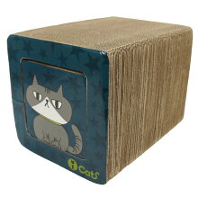 【猫】【つめとぎ】【iCat】【アイキャット】オリジナル飛び出すつめとぎネコトンネル。【段ボール】【猫用つめとぎ】【猫のつめとぎ】【スクラッチャー】【キャットスクラッチャー】