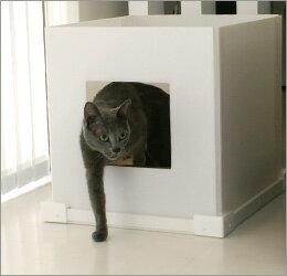 【猫トイレ カバー iCat】レストスペースの目隠し・そして隠れ家に…。隠して「魅せる」猫ちゃ...