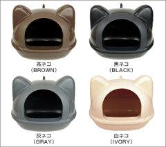 iCatオリジナル!シンプルでキュートなネコ型トイレフタが簡単に開くのでお掃除楽々♪いつでも...