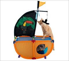 猫ちゃんたちの楽しい遊び場SPORT PETシリーズ海賊船をイメージした猫が夢中になる遊び場!SPOR...