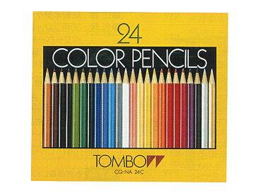 トンボ鉛筆 色鉛筆 紙箱 24色 NA