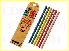 □ippo(イッポ) 小学一年生かきかたえんぴつ 六角軸2B 赤鉛筆セット ナチュラル(KNN02) 【楽ギフ_名入れ】
