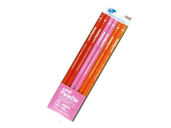 That uni Palette (palette) lack pencils 2B triangular shaft plastic case Pink:-
