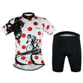 サイクルジャージ 上下セット 半袖ウエア サイクリング用 ロードバイク ウェア 自転車ウェア 夏用サイクルジャージ 半袖 サイクルウエア ビブパンツ 自転車 送料無料 レディース メンズ 吸汗速乾