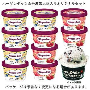 ハーゲンダッツ ミニカップ バニラ 5個+ストロベリー 5個+丹波黒大豆入り牛乳アイスクリーム1個