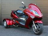 大型スクータートライク200cc整備済完成車三輪バイク公道走行高速可ノーヘル二人乗りLEDライトLEDテールLEDウインカーエナメルシートメッキカウルHL200XR2