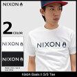 ニクソン nixon Tシャツ 半袖 メンズ ベイシス 2(nixon Basis II S/S Tee ティーシャツ T-SHIRTS カットソー トップス メンズ 男性用 NS2597) ice filed icefield
