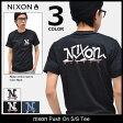 ニクソン nixon Tシャツ 半袖 メンズ プッシュ オン(nixon Push On S/S Tee ティーシャツ T-SHIRTS カットソー トップス メンズ 男性用 NS2602) ice filed icefield