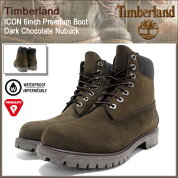 �ƥ���С�����Timberland�֡��ĥ�󥺥�������6������ץ�ߥ�����������祳�졼�ȥ̥Хå�(timberland10001ICON6inchPremiumBootDarkChocolateNubuck�ɿ奷�å�������������»���MENS������󥺷�)icefiledicefield05P07Feb16