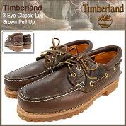 ティンバーランドTimberlandデッキシューズメンズスリーアイクラシックラグブラウンプルアップ(timberland300033EyeClassicLugBrownPullUp茶レザーモカシンメンズ靴シューズSHOES)