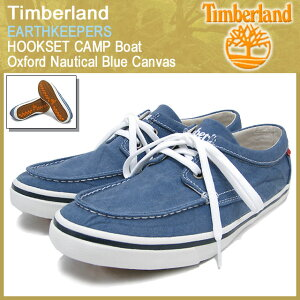 【15%OFF】Timberland EARTHKEEPERS HOOKSET CAMP Boat Oxford Nautical Blue Canvas【5716R】...