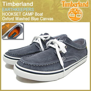 【15%OFF】Timberland EARTHKEEPERS HOOKSET CAMP Boat Oxford Washed Blue Canvas【5018R】テ...