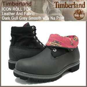 【40%OFF&送料無料】Timberland ICON ROLL TOP Leather And Fabric Dark Gull Grey Smooth wit...