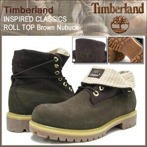 【15%OFF&送料無料】Timberland INSPIRED CLASSICS ROLL TOP Brown Nubuck【6615R】【送料無料...