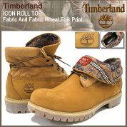 �ƥ���С�����Timberland�֡��ĥ��������?��ȥåץե��֥�å�����ɥե��֥�å��������ȥե������ץ���(timberland6826AICONROLLTOPFabricAndFabricWheatFolkPrintBOOTS�����MENS���)icefiledicefield