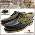 ティンバーランド Timberland デッキシューズ メンズ オーセンティックス スリーアイ ラグ レザー アンド ファブリック Black Quartz With Olive Hainsworth(A11Z2 3 Eye Lug Leather And Fabric モカシン メンズ靴 シューズ SHOES)