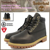 �ƥ���С�����Timberland�֡��ĥ��å���ǥ��ǥ������б�����������˥�6������ץ�ߥ��०���������ץ롼��BlackIlluminated(timberlandA19XPJunior6inchPremiumWaterproofBoot�֥�å����ɿ������LADYS������ǥ�������)