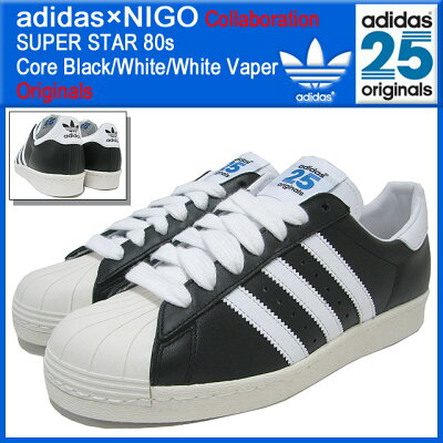 【30%OFF】【限定】【コラボ】【Originals】adidas×NIGO SUPER STAR 80s Core Black/White/Whi...