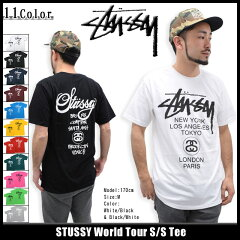 STUSSY World Tour S/S Teeステューシー STUSSY World Tour Tシャツ 半袖(stussy tee ティーシ...