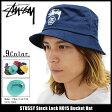 ステューシー STUSSY バケット ハット Stock Lock HO15 Bucket Hat 帽子 ( stussyhat メンズ・男性用 132651 132668 ストゥーシー スチューシー)