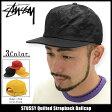 ステューシー STUSSY キャップ 帽子 Quilted Strapback Cap(ストラップバック メンズ・男性用 131623 ストゥーシー スチューシー) ice filed icefield