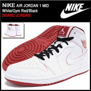 �ʥ���NIKE���ˡ�������������ѥ������硼����1�ߥå�White/GymRed/Black(nikeAIRJORDAN1MIDBRANDJORDAN�ۥ磻����SNEAKERMENS�������塼��SHOES554724-103)icefiledicefield