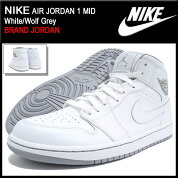 �ʥ���NIKE���ˡ�������������ѥ������硼����1�ߥå�White/WolfGrey(nikeAIRJORDAN1MIDBRANDJORDAN�ۥ磻����SNEAKERMENS�������塼��SHOES554724-112)icefiledicefield��05P12Oct15��