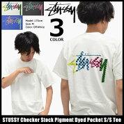 ステューシーSTUSSYTシャツ半袖メンズCheckerStockPigmentDyedPocket(stussyteeポケットティーシャツT-SHIRTSカットソートップスメンズ1944038ストゥーシースチューシー)icefiledicefield